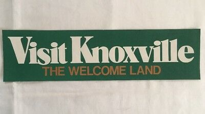 VTG Visit Knoxville The Welcome Land 1982 Worlds Fair Bumper Sticker Decal NOS