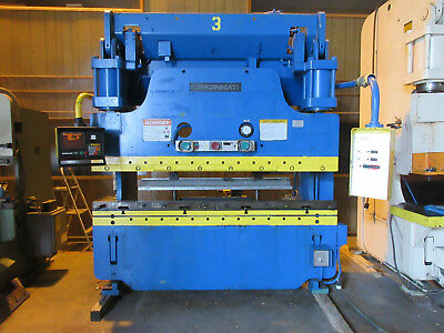 Cincinnati Hydraulic Press Brake 135 Ton 6 Ft Hurco Ab 7 Backgauge *video Link*