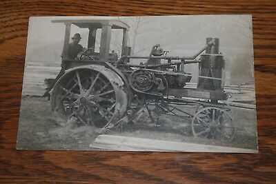 1910s Avery Tractor Real Photo Postcard