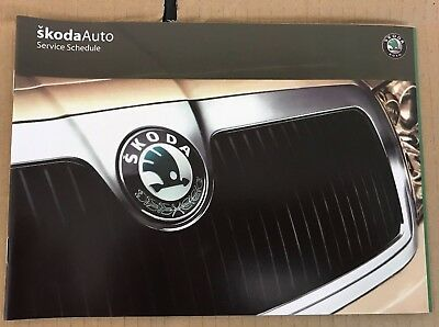 Skoda Service Book, Brand New And Genuine For All Petrol And Diesel Models