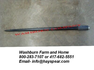 """39"""" Tapered Hay Bale Spear Thin 1 3/8"""" Diameter w/ Nut"""