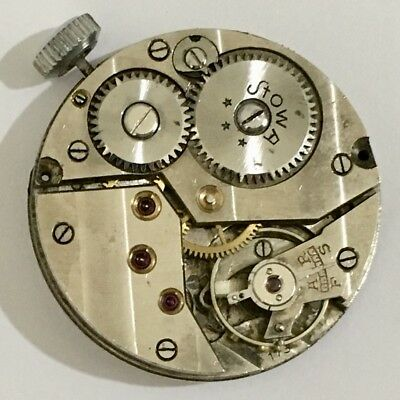RARE VINTAGE GERMAN STOWA MILITARY WWII CAL 173 FROM 1940s WRIST WATCH MOVEMENT!