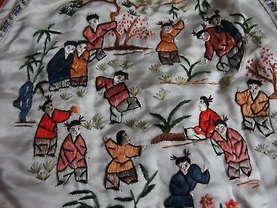 Vintage Chinese silk hand embroidery