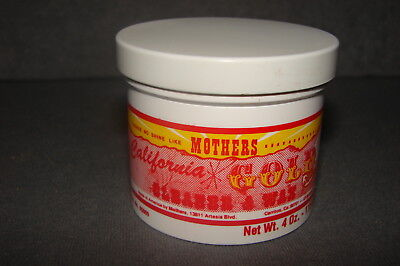 Mothers California Gold Cleaner & Wax Empty Can No. 05600 VINTAGE 70s 80s