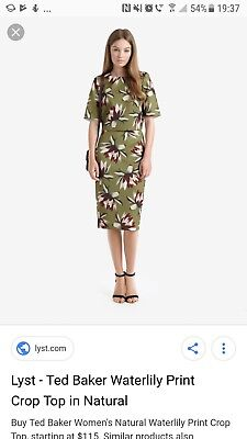 bf3ca9b99dc8f7 TED BAKER DRESS size 2 10 - £70.00