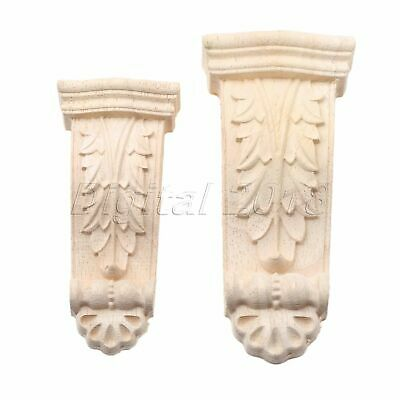 2 Sizes Unpainted Woodcarving Decal Applique Furniture Table Wardrobe Decoration