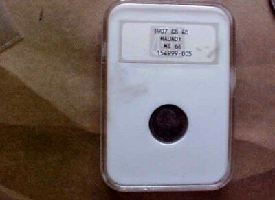 High Grade Ngc Ms 66 1907 Uk Great Britain  4D Maundy - Old Slab Toning - Coins