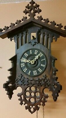VERY-RARE-ANTIQUE--CUCKOO-CLOCK-- Spares/repair