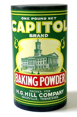 NOS Vintage CAPITOL Pure BAKING POWDER Unopened NASHVILLE Tennessee (not tin)