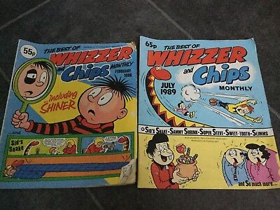 2 Whizzer and Chips comics the best of 1986 and 1989