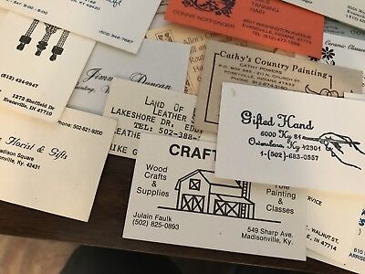 60+ Old Business Cards