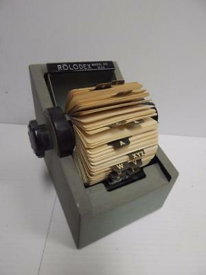 Vintage Rolodex Zephyr Model No. 1753 with Card Dividers