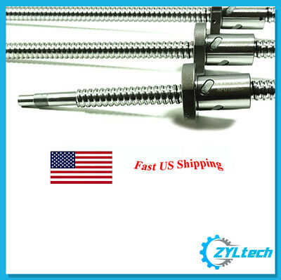 ZYLtech Precision (TRUE C7) 16mm 1605 Antibacklash Ball Screw w/ Ballnut - 300mm