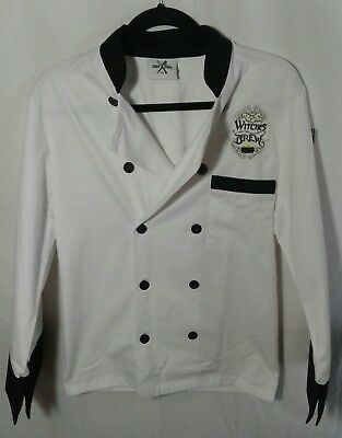 Chef Code Executive Chef Coat with Black Trim, Chef Jacket Witches Brew XS