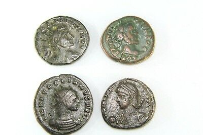 Four Later Roman Empire Coins.  G084