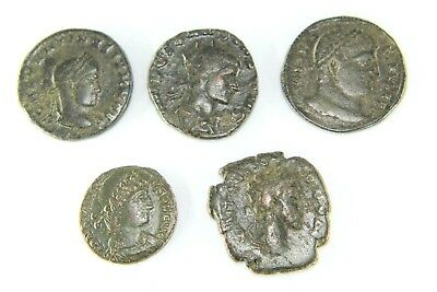 Five Later Roman Coins.  G086