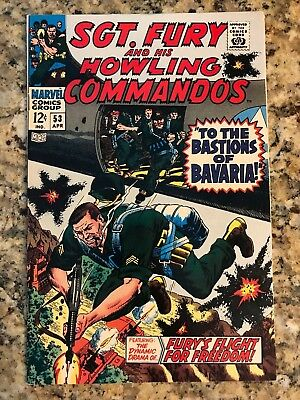 Sgt. Fury And His Howling Commandos #53 Vf/nm 9.0 / White Pages / Marvel Comic