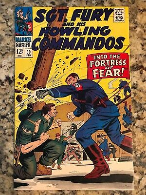 Sgt. Fury And His Howling Commandos #39 Vf/nm 9.0 / White Pages / Marvel Comic
