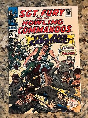 Sgt. Fury And His Howling Commandos #47 Vf- 7.5 / White Pages / Marvel Comic