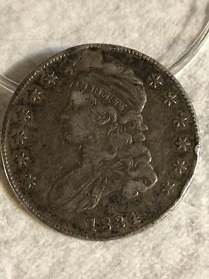 1834 U.s. Capped Bust Silver Half Dollar Coin No Reserve