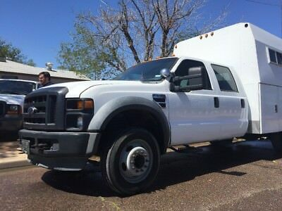 2009 Ford F-550 Crew Cab 2WD DRW 2009 FORD F550 UTILITY BED SERVICE BODY DIESEL MECHANIC SPECIAL NO RESERVE