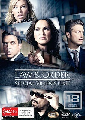 Law and Order SVU  Season 18 DVD [UK Compatible] New Sealed Special Victims Unit