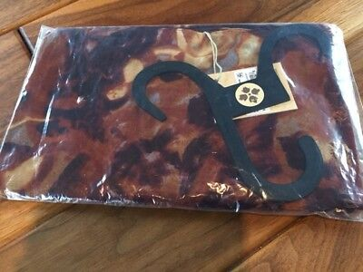 "NWT Patricia Nash Viscose Scarf - Brown/Rust ""Roman Goddess"" Pattern"