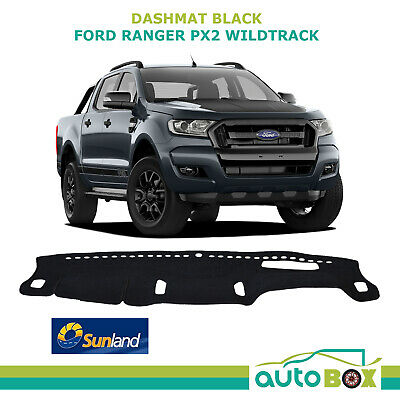 Sunland DashMat suits Ford PX2 Ranger Wildtrack Dash Mat Protection Black 9/2015