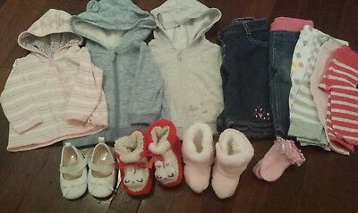 Baby Girls Clothes and Shoes for Winter - Size 00