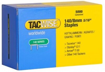 Tacwise 140 Series 8mm Staples For Staple Gun (Pack Of 5000)