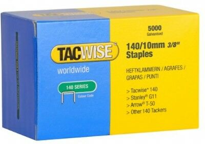 Tacwise 140 Series 10mm Heavy Duty Staples For Staple Gun (5000 Pieces)