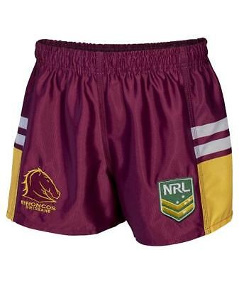 Brisbane Broncos Official NRL Supporter Footy Shorts by Classic Sportswear
