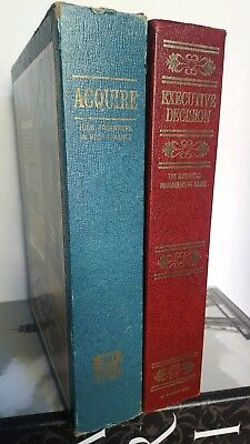Two Vintage Board Games Executive Decision And Aquire 3M Bookshelf 60s 70s