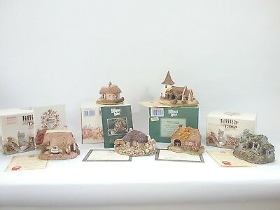 Lot of 6 Lilliput Lane House Smithy Butterick Eriskray Croft Greensted Hermitage