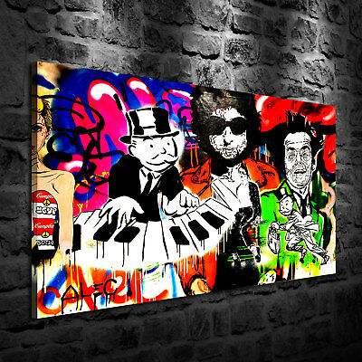 HD Print Oil Painting Home Decor Art on Canvas Alec Monopoly Piano 24x36inch