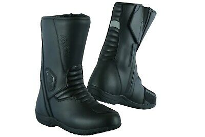 Motorcycle Touring Boots Black Leather Raxid Woltex Touring Shoes Offer