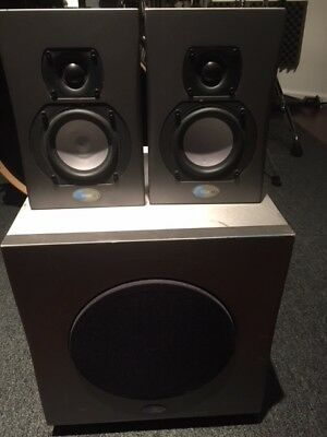 Blue Sky MediaDesk 2.1 Active Studio Speakers Surround Sound 5.1 Subwoofer