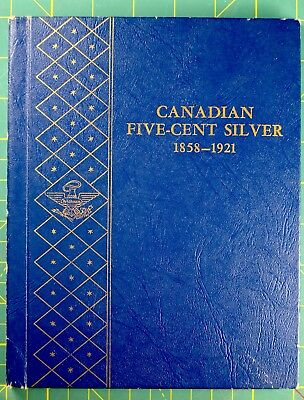CANADA SILVER 5 CENT BOOK & EXTRA COINS - 65 total coins KEY DATES