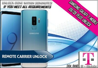 Samsung Galaxy Tmobile S9/S9 Plus Remote Unlock Service