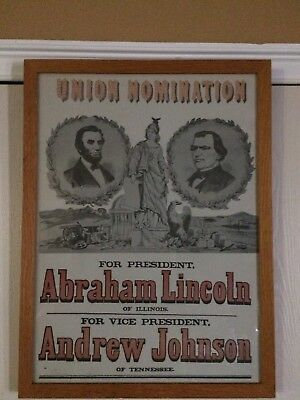"""""""Union Nomination - Abraham Lincoln And Andrew Johnson"""" Pr [ID 620768]"""