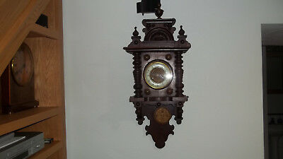 Fully & Properly Restored German Made F. S. Mauthe Time & Strike Balcony Clock