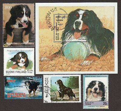 20% OFF SALE!! BERNESE MOUNTAIN DOG ** Dog Stamp Collection**Great Gift Idea **
