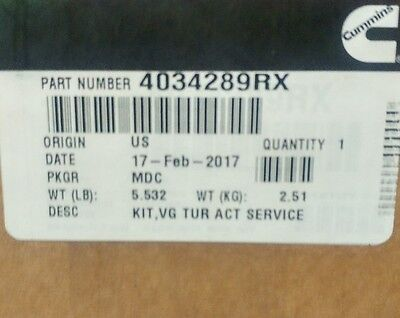 NEW CUMMINS VGT TURBO ACTUATOR 4034289RX  Sealed  FREE SHIPPING  **PRICE  DROP***