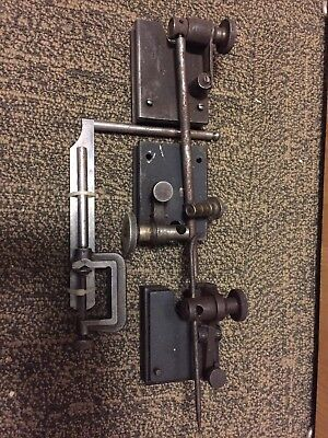 3 Surface Gages And Starrett Clamp Attachment