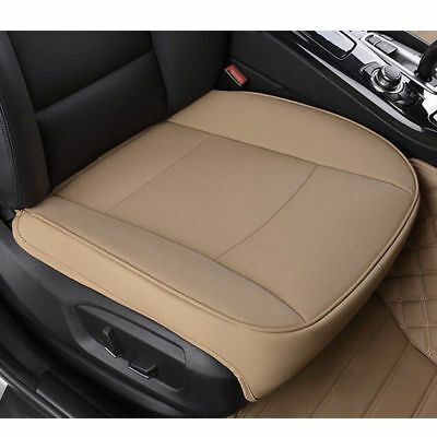 Universal PU Leather Deluxe Car Cover Seat Protector Cushion Front Cover Beige