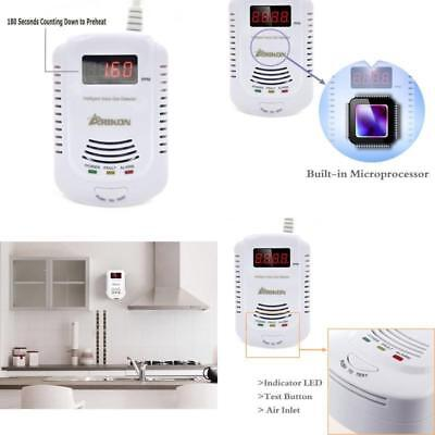 Alarm Sensor Wall Gas Leak Detector Methane Natural Gas Propane Butane Safe Home