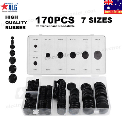 170Pcs/Set Rubber Grommet Firewall Hole Plug Electrical Wire Gasket Kit For Car