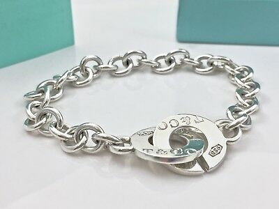 76e454baa Tiffany & Co. Sterling Silver 1837 Circle Clasp Toggle Bangle Bracelet  18416F
