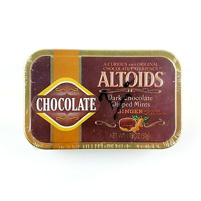Altoids Dark Chocolate Dipped Mints Ginger Collectors Sealed Rare Discontinued