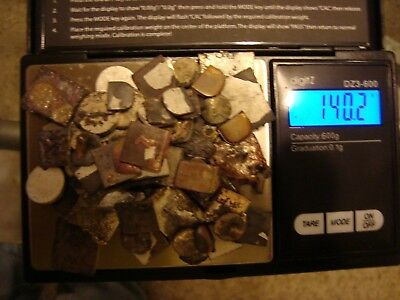 140 Grams Silver Contacts Cleaned